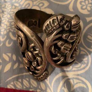 Vintage silver designer cuff